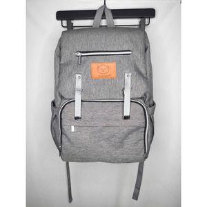 Keababies Classic Grey Diaper Bag NWOT